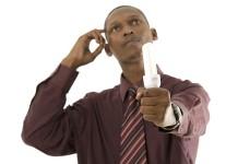 man thinking business idea