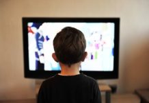 boy watching tv